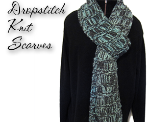 dropstitch knit scarves