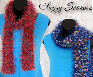 fuzzy knit scarves