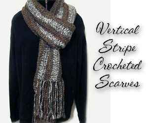 vertical striped scarves